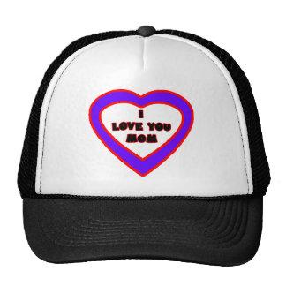 I Love You MOM Purple Blue Heart The MUSEUM Zazzle Trucker Hat