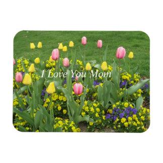 I Love You Mom Rectangular Photo Magnet