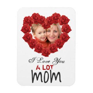 I love you mom roses custom photo Magnet