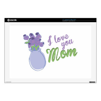 I Love You Mom Laptop Decals