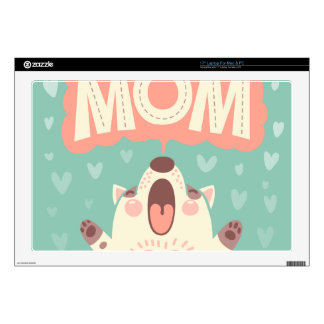 "I LOVE YOU MOM SKIN FOR 17"" LAPTOP"