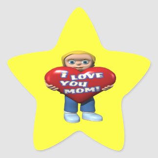 I Love You Mom Star Sticker
