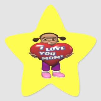 I Love You Mom Star Sticker
