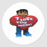 I Love You Mom Stickers