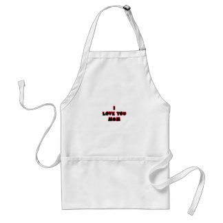 I Love You MOM The MUSEUM Zazzle Gifts Apron