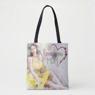 I love you Mom Tote Bag for Mother's Day