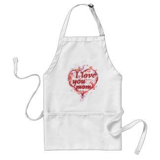 I love you mom white apron