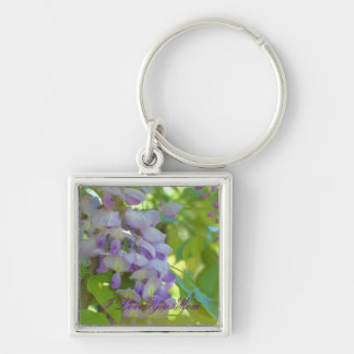 I Love You Mom Wisteria Flower Keychain