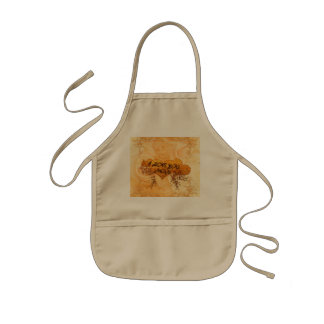 I love you mom with hearts and roses kids' apron