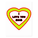 I Love You MOM Yellow Heart The MUSEUM Zazzle Gift Postcard