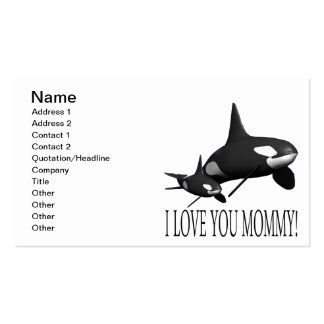 I Love You Mommy Business Card