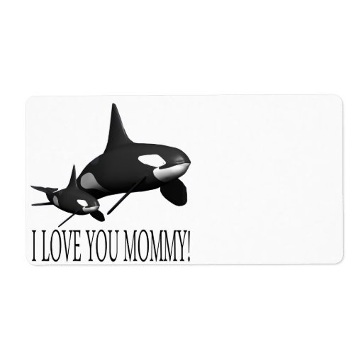 I Love You Mommy Custom Shipping Labels