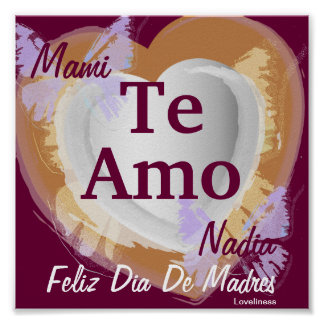 I Love You Mommy [Spanish] Poster-Customize Poster