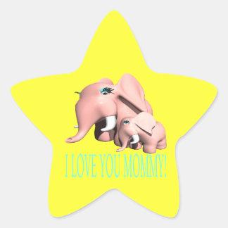I Love You Mommy Star Sticker