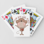 I love you MONKEY Bicycle Playing Cards