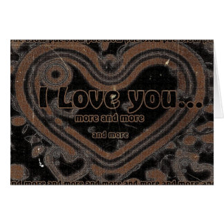 I Love You More And More Stationery Note Card