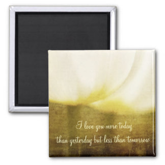 I Love You More.... Antiqued Tulips Magnet