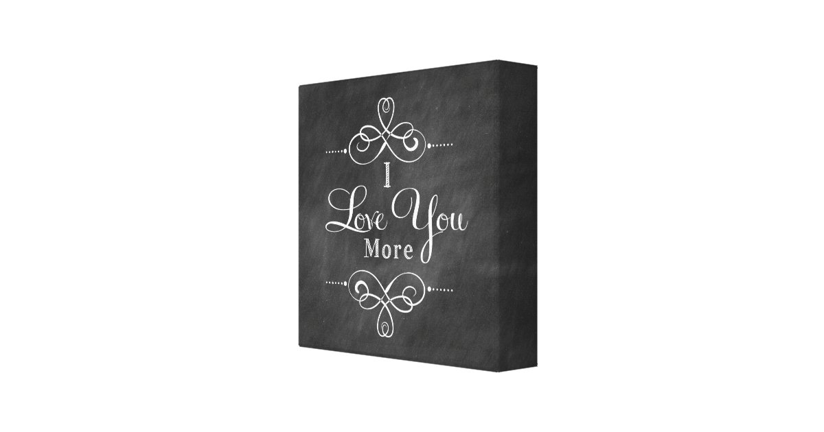 Wall Art Love You More : I love you more canvas wall art quote print zazzle