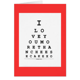 I Love You More  Cheese Cake Valentine's Day Card
