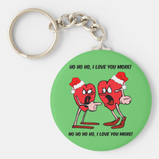 I love you more Christmas Basic Round Button Keychain