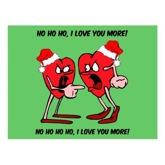 I love you more Christmas Postcard