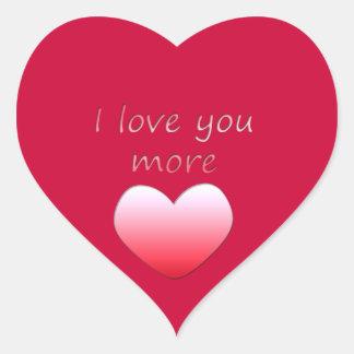 I Love You More Heart Sticker
