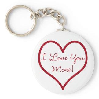 I Love You More Key Chain