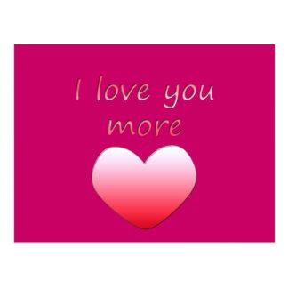 I Love You More Postcard