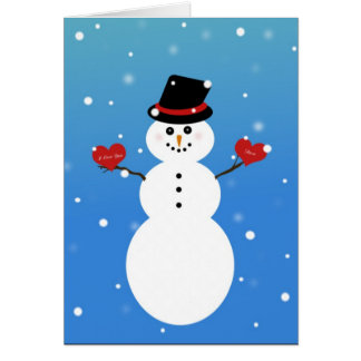 I Love You More Snowman Card
