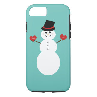 I Love You More Snowman iPhone 8/7 Case