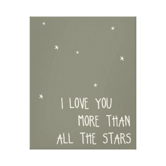 I Love You More than All the Stars Canvas Print