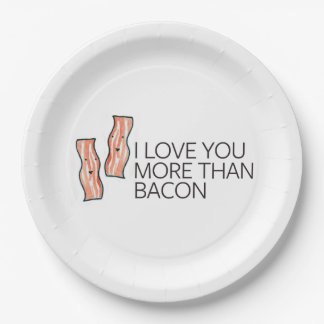 I Love you More Than Bacon Paper Plate