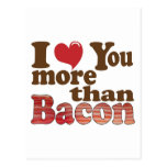 I Love You More Than Bacon Postcards