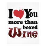 I Love You More Than Boxed Wine Personalized Letterhead