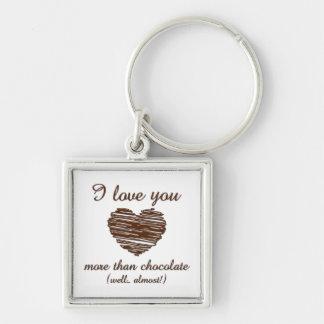 I love you more than chocolate keychain