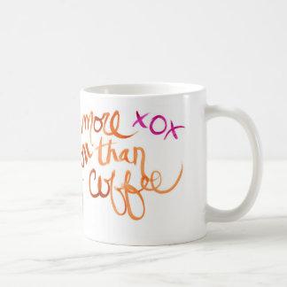 I Love you more than coffee Classic White Coffee Mug