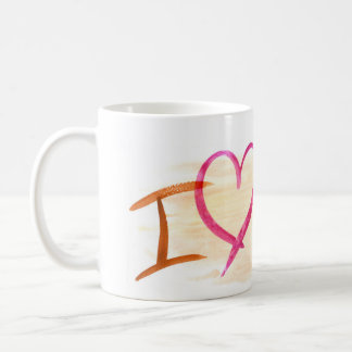 I love you more than coffee mug with background