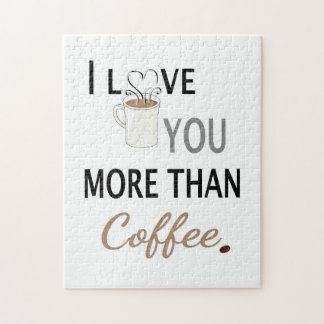 I Love You More than Coffee Puzzle