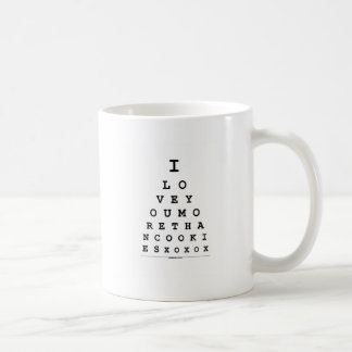 I Love You More Than Cookies Classic White Coffee Mug