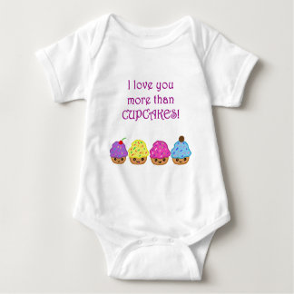 I Love You More Than Cupcakes Baby Bodysuit