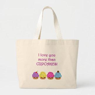 I Love You More Than Cupcakes Tote Bags