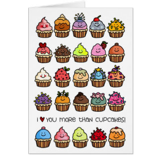 I love you more than cupcakes! greeting card