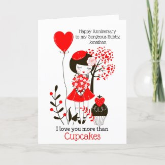 I love you more than Cupcakes/Husband Anniversary Holiday Card