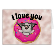 I Love You More Than Donuts Valentine's Day Card
