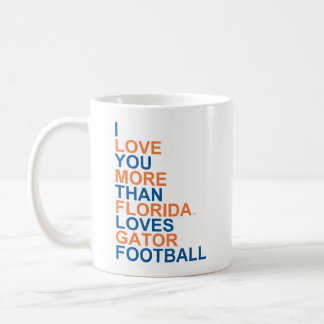 I Love You More Than Florida Loves Gator Football Coffee Mug