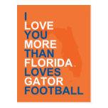 I Love You More Than Florida Loves Gator Football Postcard