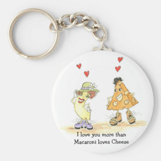 I love you more than macaroni loves cheese basic round button keychain