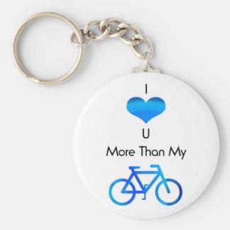 I Love You More Than My Bike in Blue Keychain
