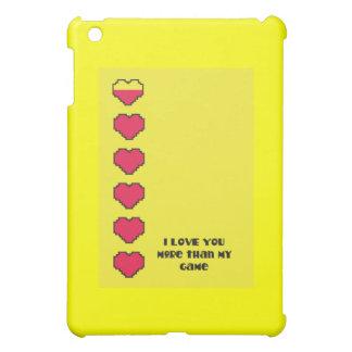 I love you more than my game digital hearts iPad mini cases