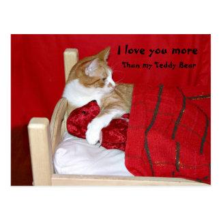 I love you more than my Teddy Bear Postcard